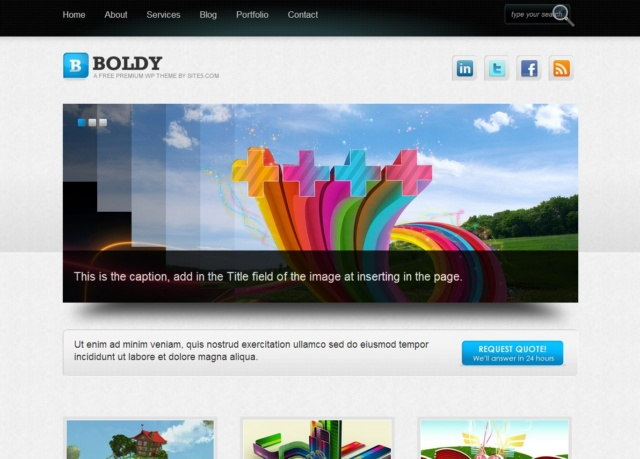 Boldy WordPress Theme | Lovely Templates