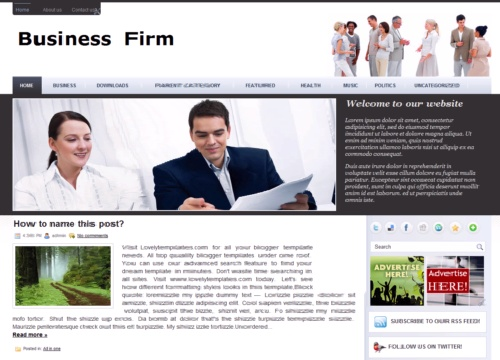 Business firm blogger template lovely templates wajeb