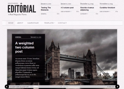 Editorial Template. editorial wordpress theme lovely templates ...