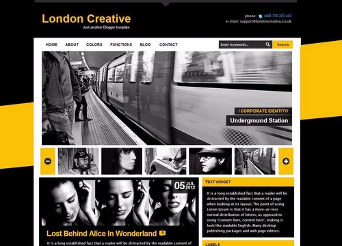 London Creative Free Blogger Template