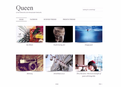 Queen Free Blogger Template