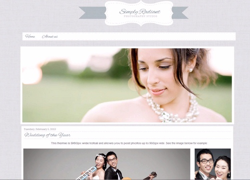 Blogger Template Pography | Simply Radiant Blogger Template Lovely Templates