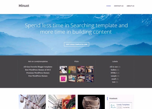 Minuet blogger template lovely templates wajeb