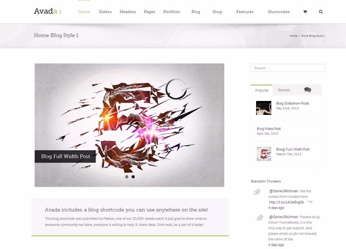how to create blog in avada theme
